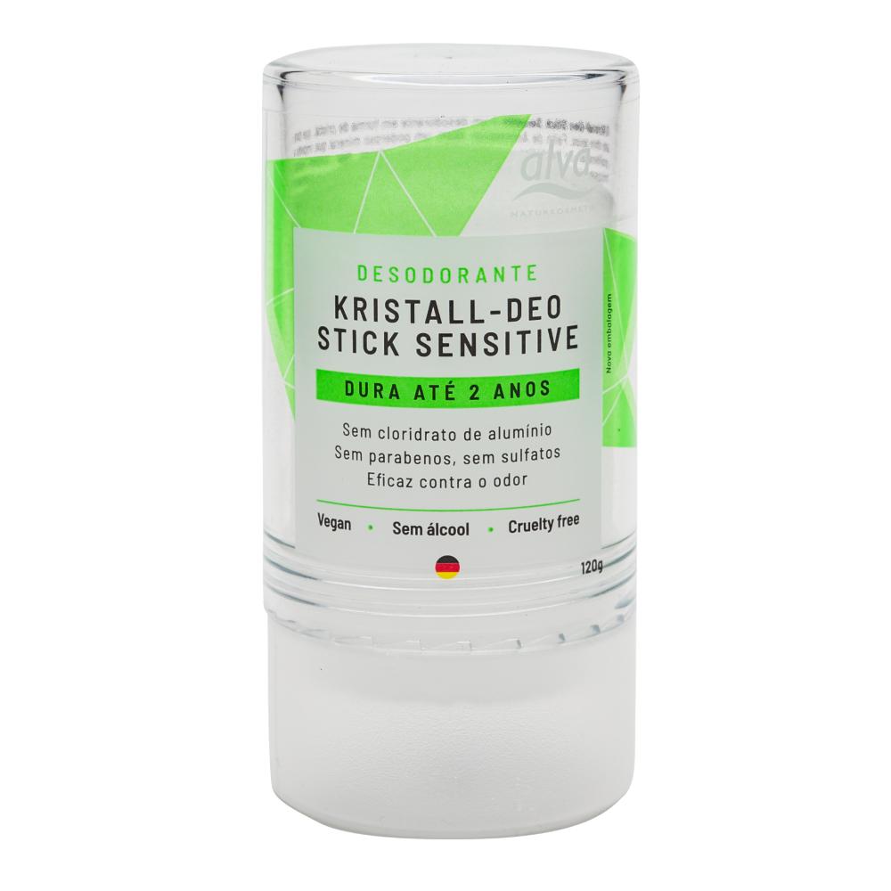 Desodorante Natural e Vegano Stick Cristal Alva 120 g