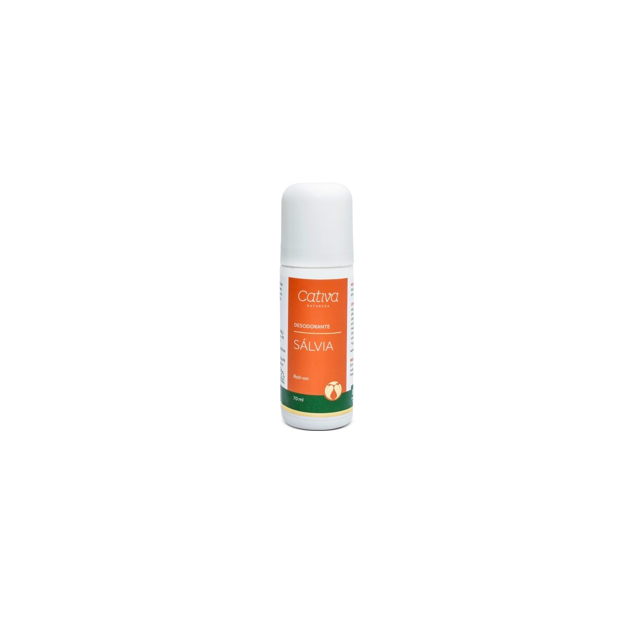 Desodorante Roll-on Sálvia Vegano e Natural Cativa Natureza 70 ml