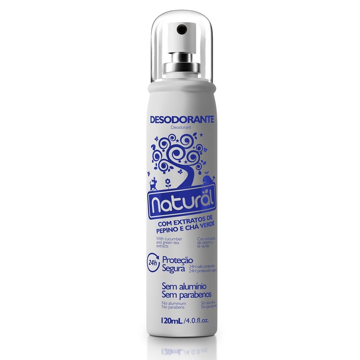 Desodorante Spray Natural e Vegano com Pepino e Chá Verde Natural 120 ml