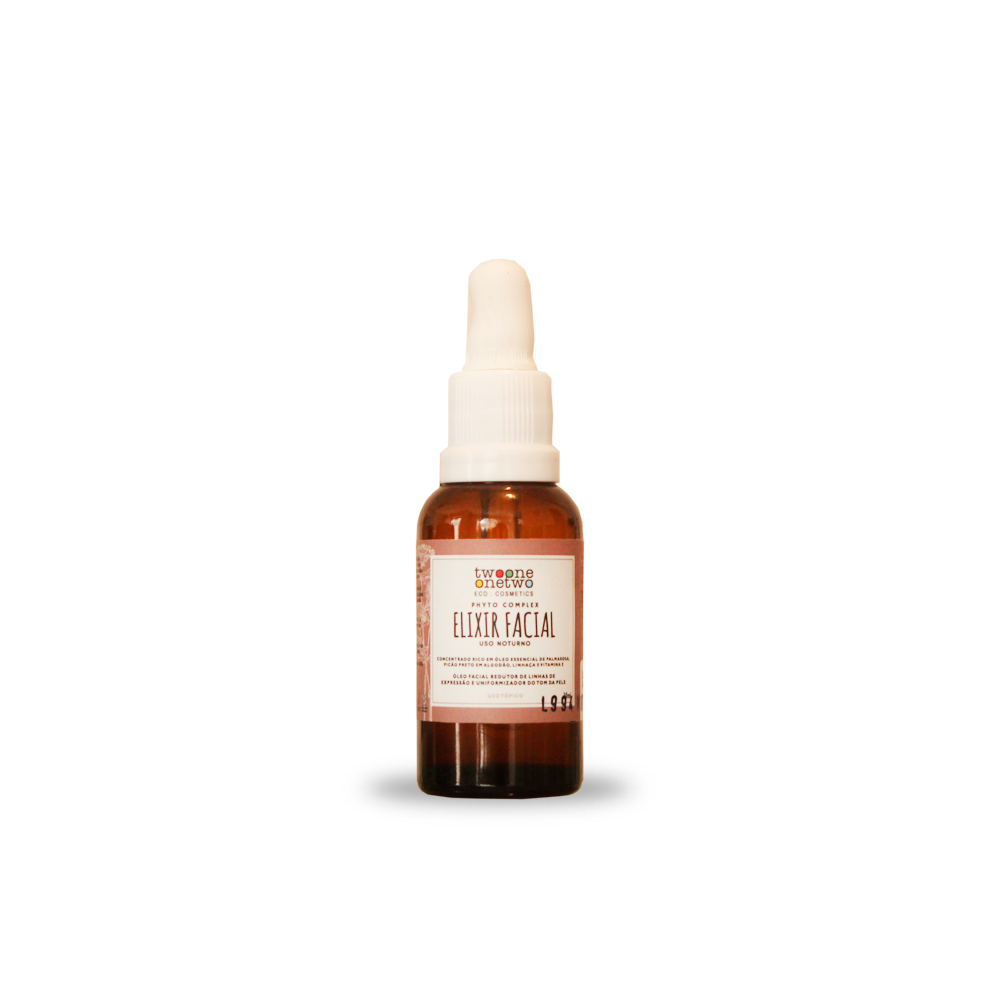 Elixir Facial Natural e Vegano Noturno Revinage Twoone Onetwo 30 g
