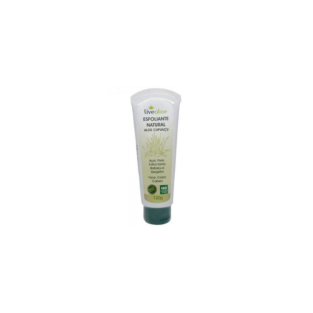Esfoliante Aloe Cupuaçu Natural e Vegano Livealoe 120 g