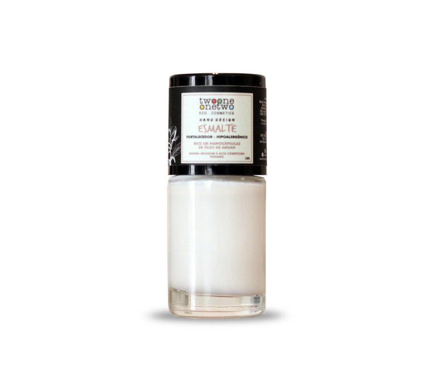 Esmalte Natural e Vegano Hipoalergênico e Fortalecedor Bright white TwoOne OneTwo 10 ml