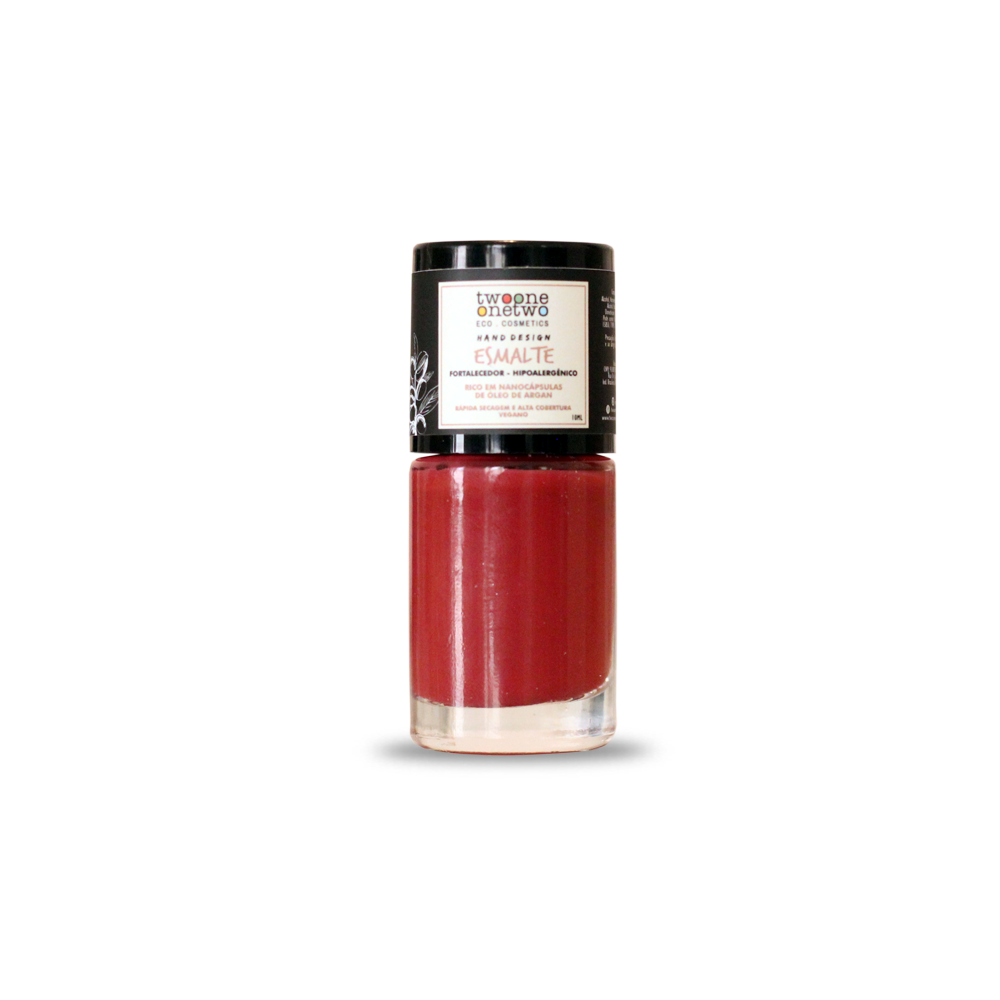 Esmalte Natural e Vegano Hipoalergênico e Fortalecedor Goji Berry TwoOne OneTwo 10 ml