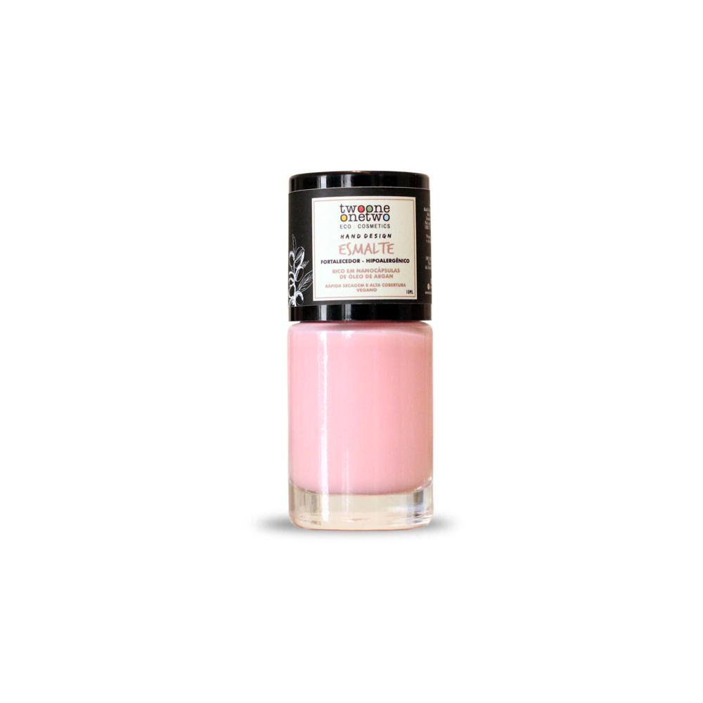 Esmalte Natural e Vegano Hipoalergênico e Fortalecedor Light Rose TwoOne OneTwo 10 ml