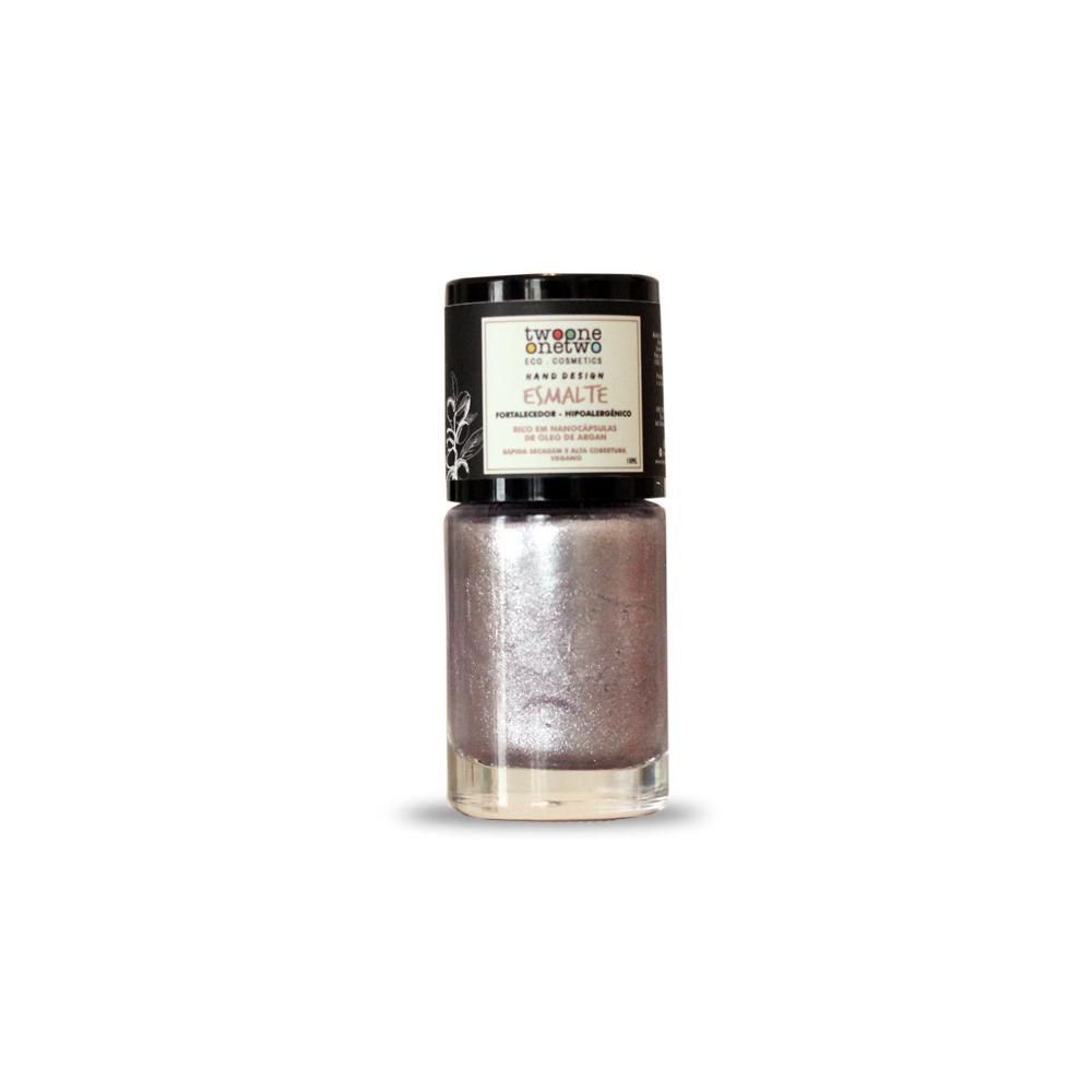 Esmalte Natural e Vegano Hipoalergênico e Fortalecedor Rose Pink TwoOne OneTwo 10 ml