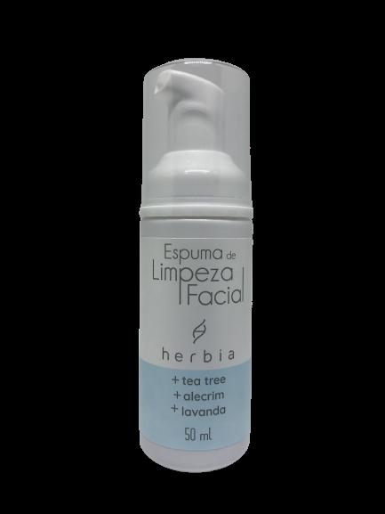 Espuma de Limpeza Facial Natural e Vegana Herbia 50 ml