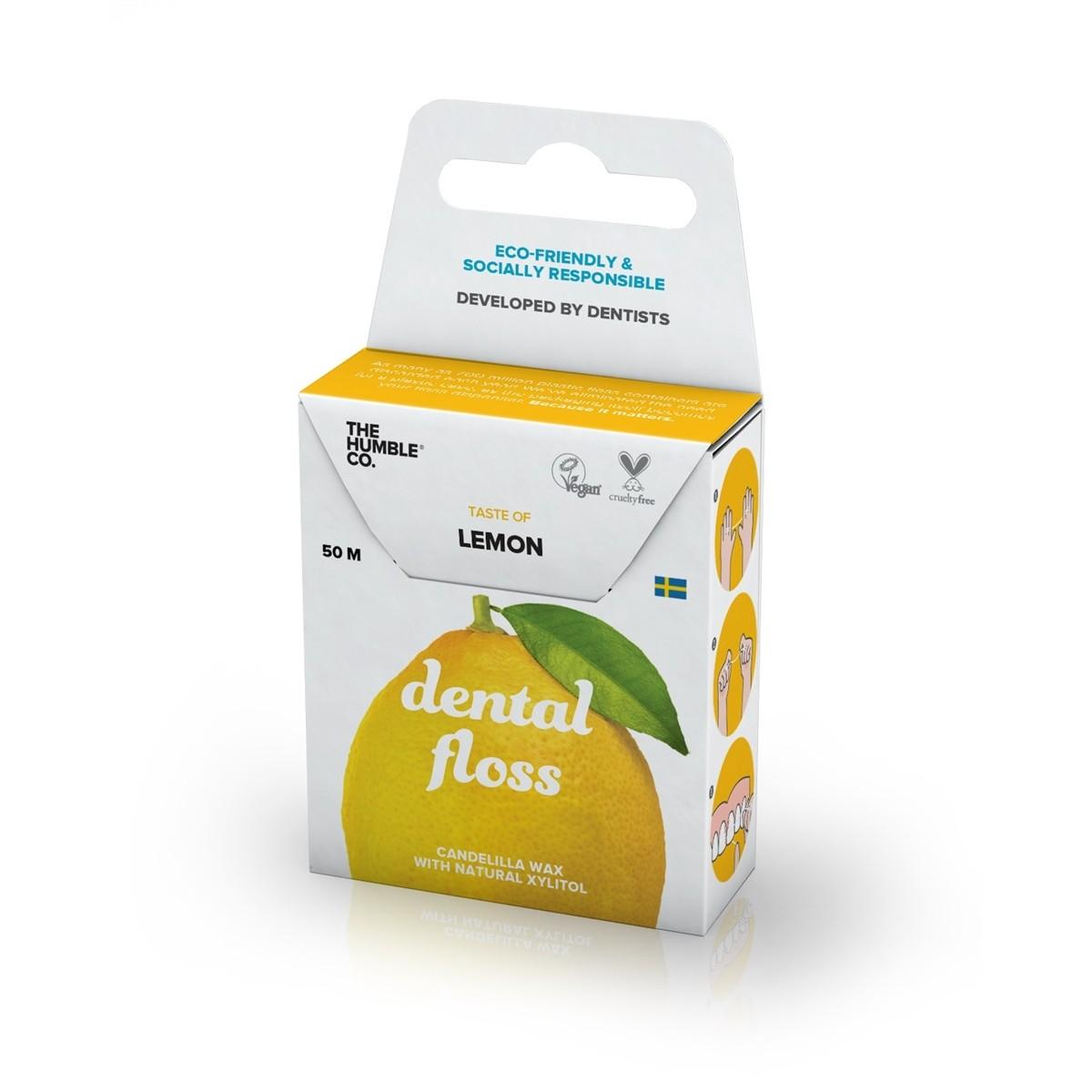 Fio Dental Natural e Vegano Lemon The Humble 50m