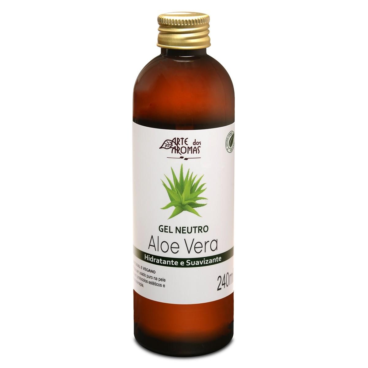 Gel Aloe Vera Natural e Vegano Arte dos Aromas 240 ml