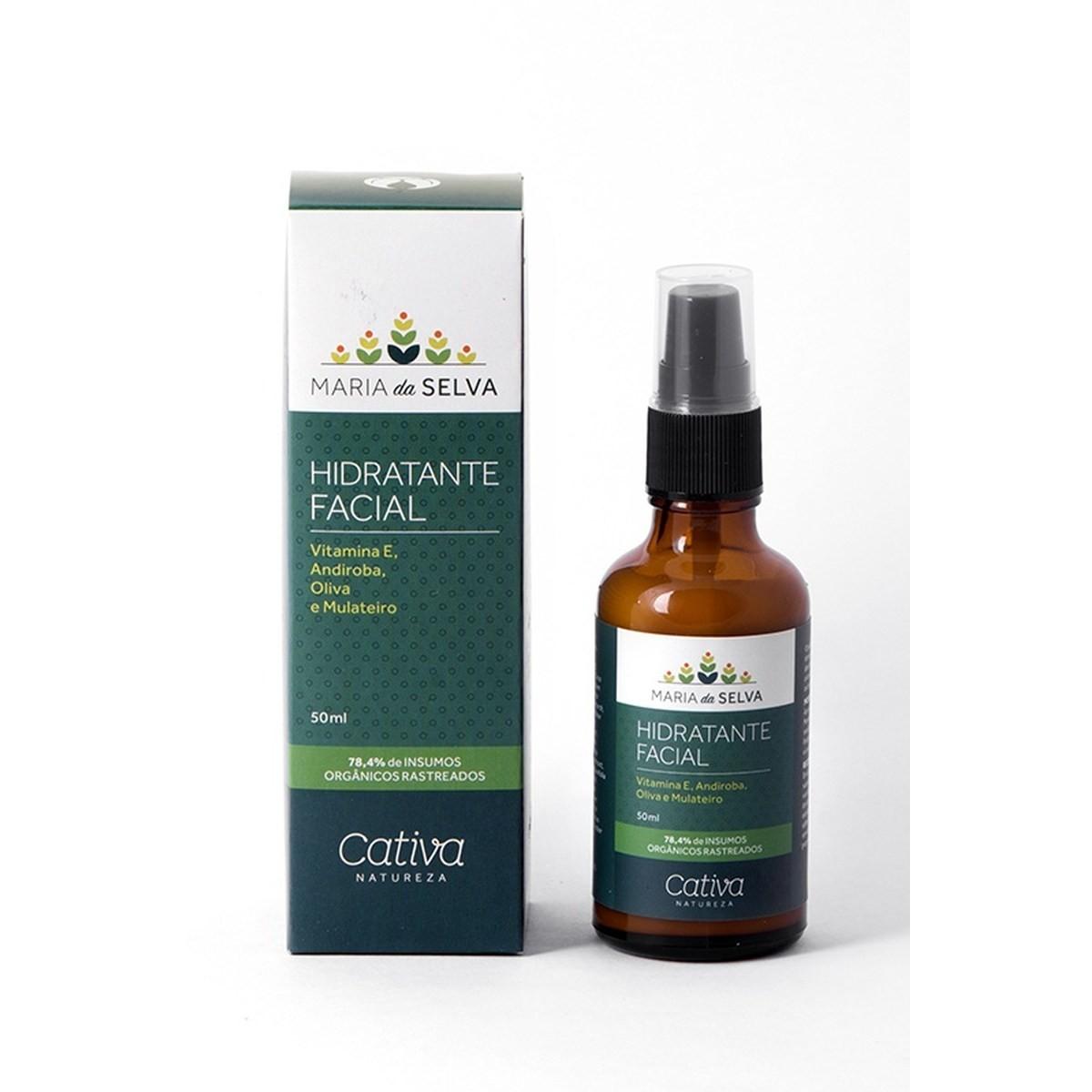 Hidratante Facial Maria da Selva Natural e Vegano Cativa Natureza 50 ml