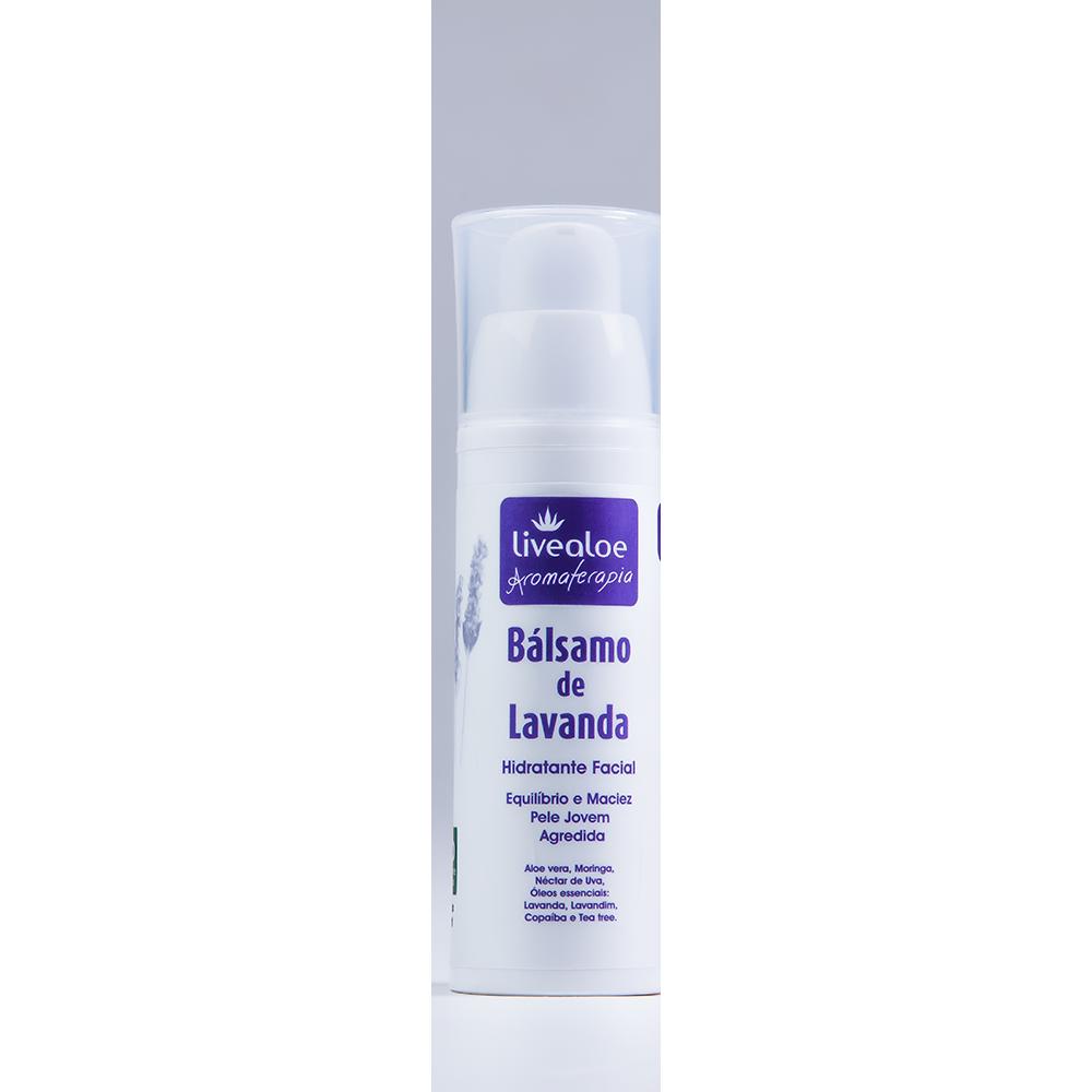 Hidratante Facial Natural e Vegano Bálsamo de Lavanda Livealoe 30 ml