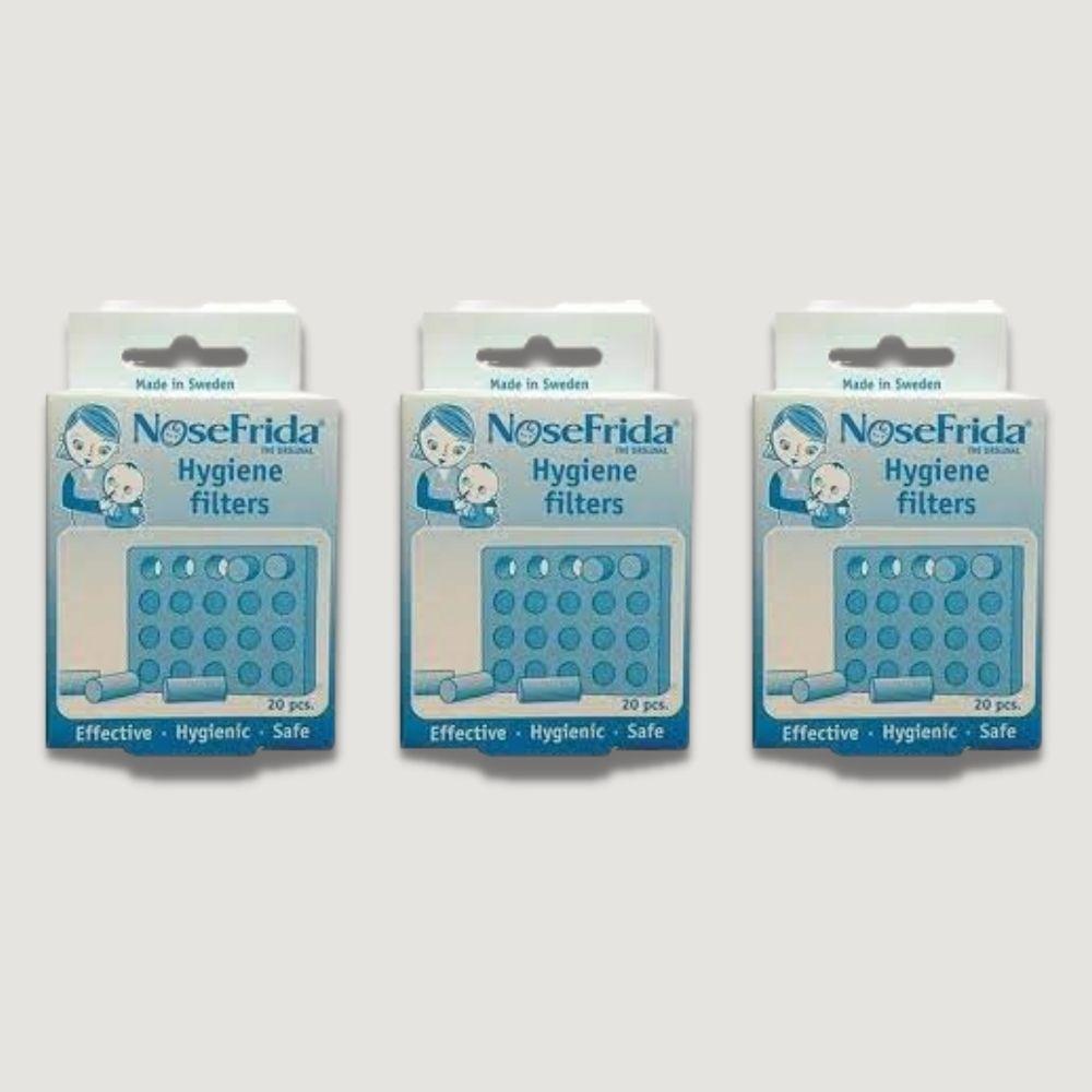 Kit 03 Refil Filtros Para Sugador Nasal Nosefrida ® 20 Unidades