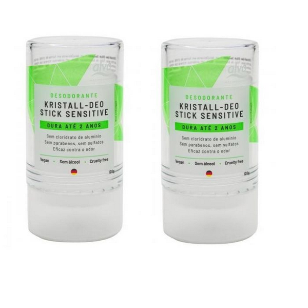 Kit 2 Desodorante Alva Cristal Natural Vegano Sem Alumínio 120g
