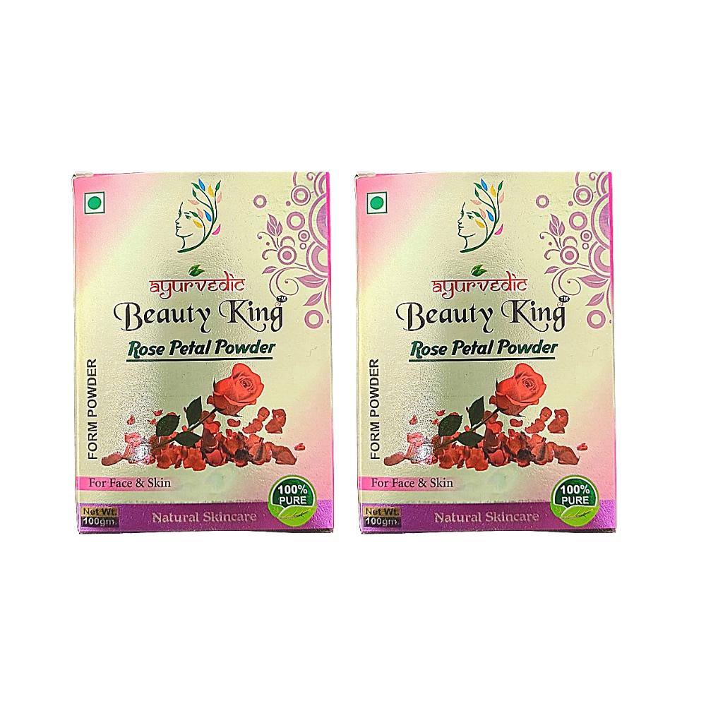 Kit 2 Pétalas de Rosa Indiana em Pó 100% Natural Vegana Ayurvedic 100g
