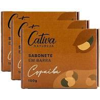 Kit 3 Sabonete Natural Copaiba 100g Cativa Natureza