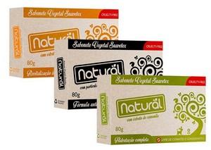 Kit 3 Sabonete Natural Vegano Sortido 80g Suavetex