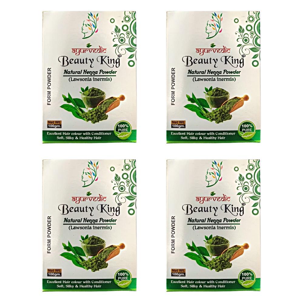 Kit 4 Henna Indiana p/ Cabelos 100% Natural Vegana Ayurvedic 100g