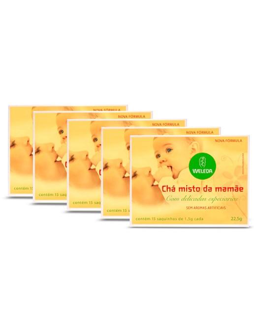 Kit 5 Chá Misto da Mamãe Weleda (Sem Aromas Artificiais)