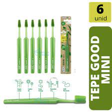 Kit 6 Escova Dental Ecológica c/ Cerdas Mamona Mini (Kids) Tepe Good