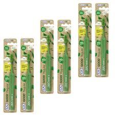 Kit 6 Escova Dental Ecológica c/ Cerdas Mamona Regular Tepe Good