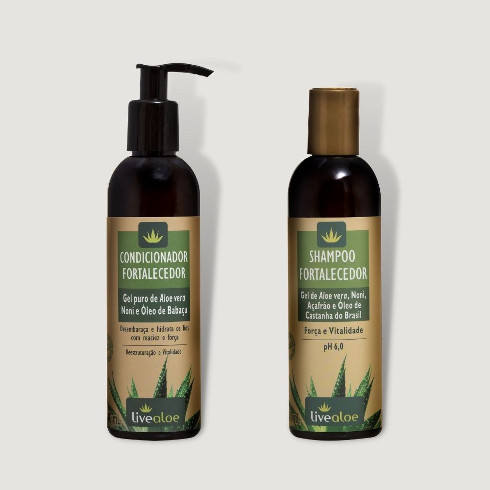 Kit Shampoo + Condicionador Fortalecedor Livealoe