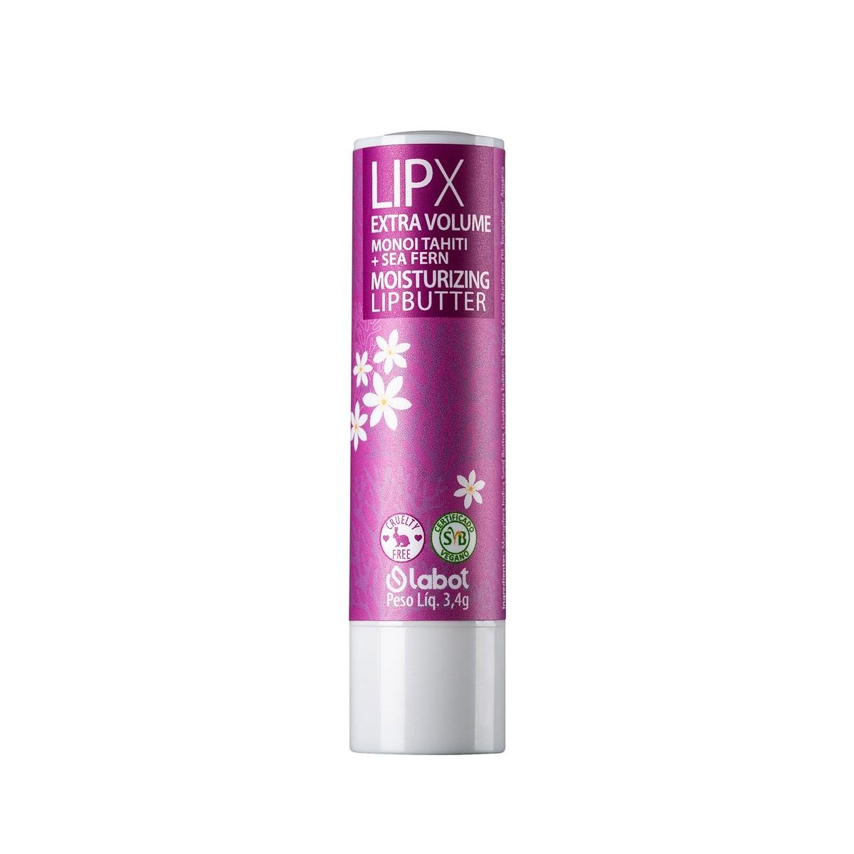 Lip Balm Natural e Vegano LipX Extra Volume Labot 3,4g