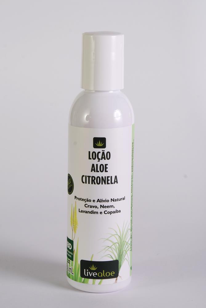 Loção Corporal Natural e Vegana de Aloe e Citronela Livealoe 200 ml