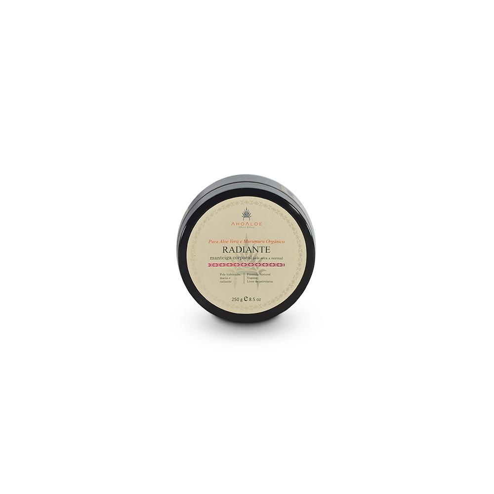 Manteiga hidratante Natural e Vegana AhoAloe Radiante 250 g