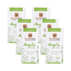 Mascara de Argila Verde Orgânica Terramater - Kit 6 pacotes
