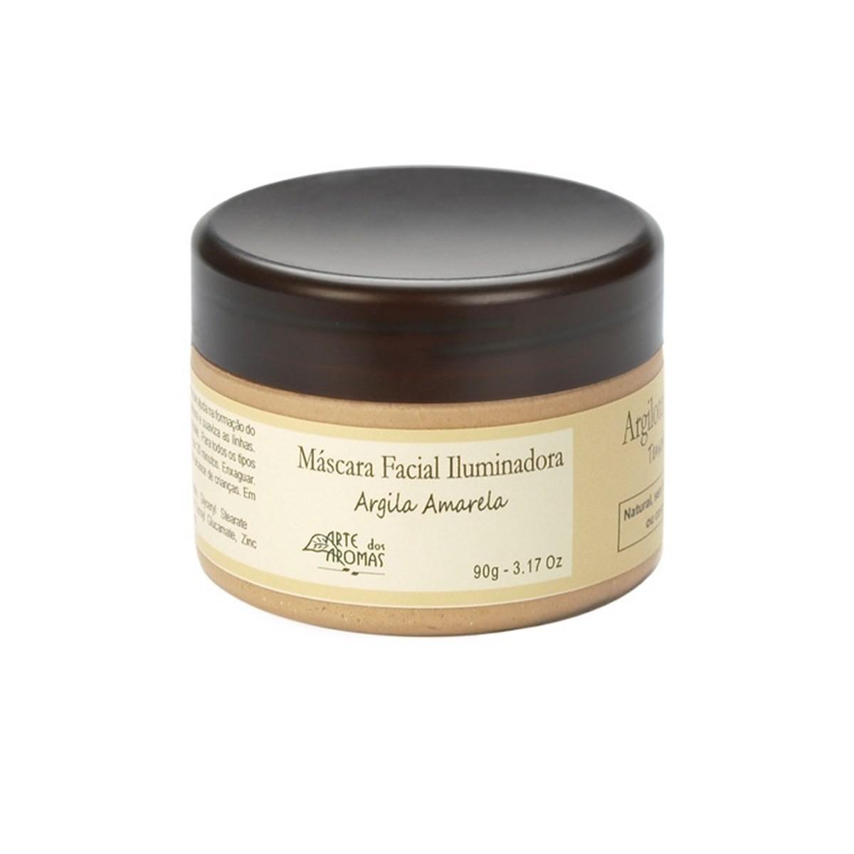 Máscara Facial Argila Amarela Iluminadora Natural e Vegana Arte dos Aromas 90g