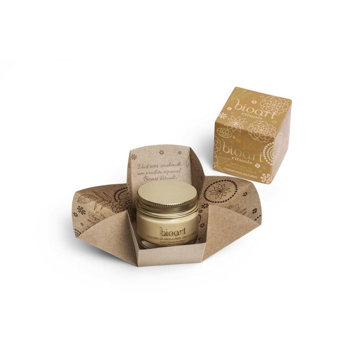 Máscara Facial Natural e Vegana Argila Dourada Revitalizante Bioart 30 ml