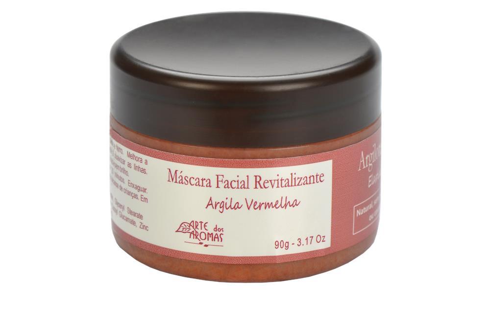 Máscara Facial Natural e Vegana Argila Vermelha Arte dos Aromas 90g