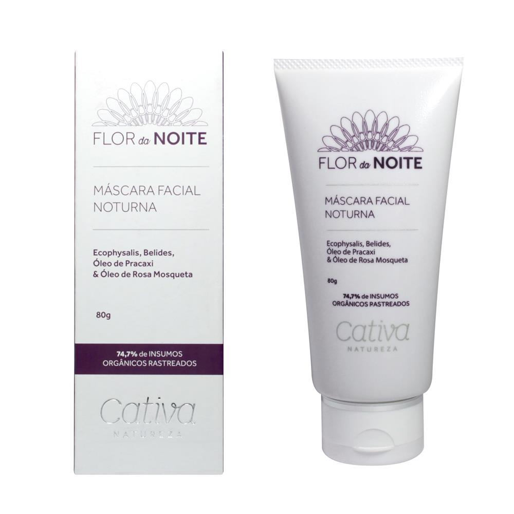 Máscara Facial Natural e Vegana Noturna Flor da Noite Cativa Natureza  80g