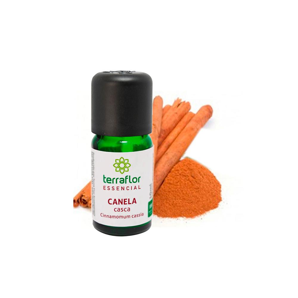 Óleo Essencial Natural de Canela Casca Terra Flor 10 ml