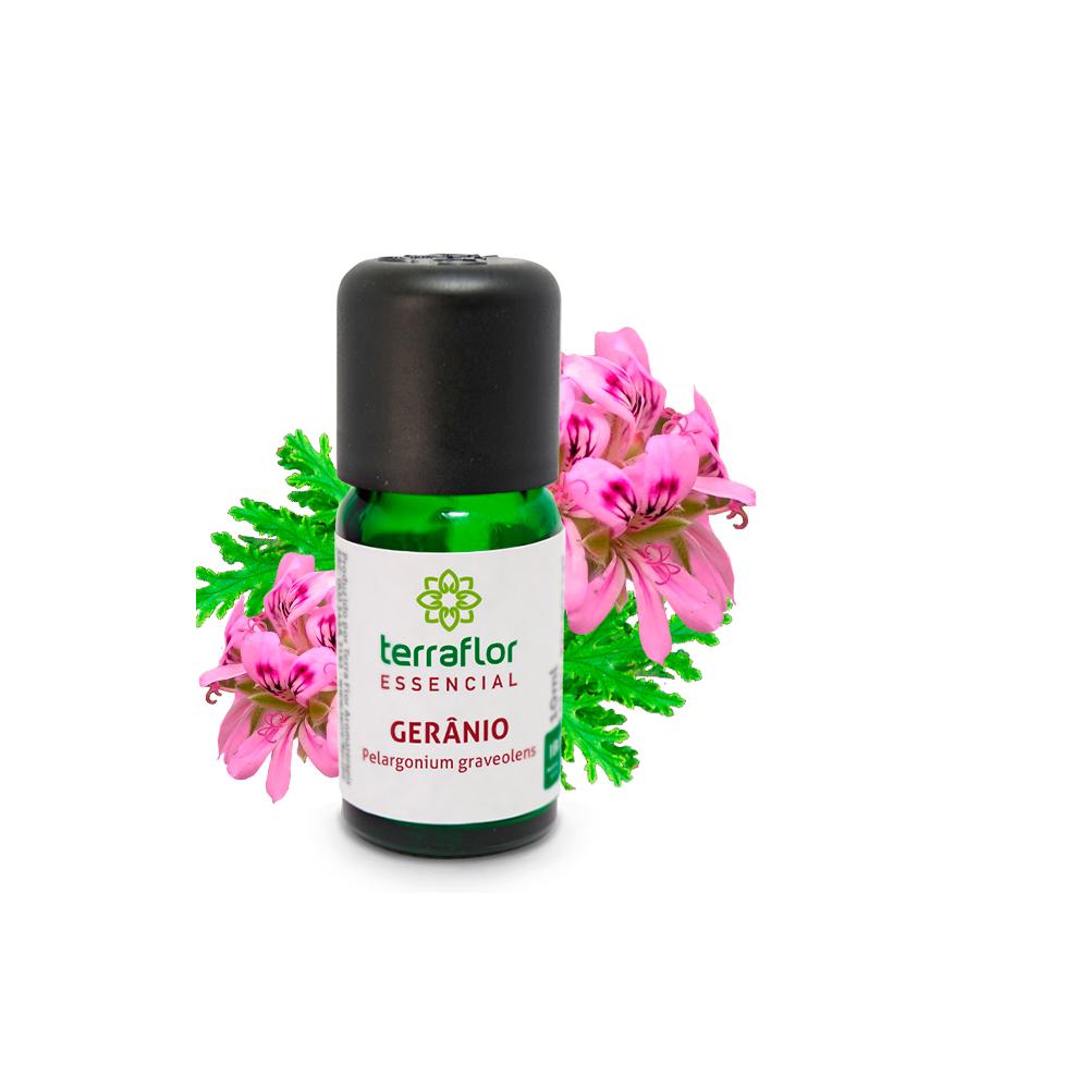 Óleo Essencial Natural de Gerânio Terra Flor 10 ml