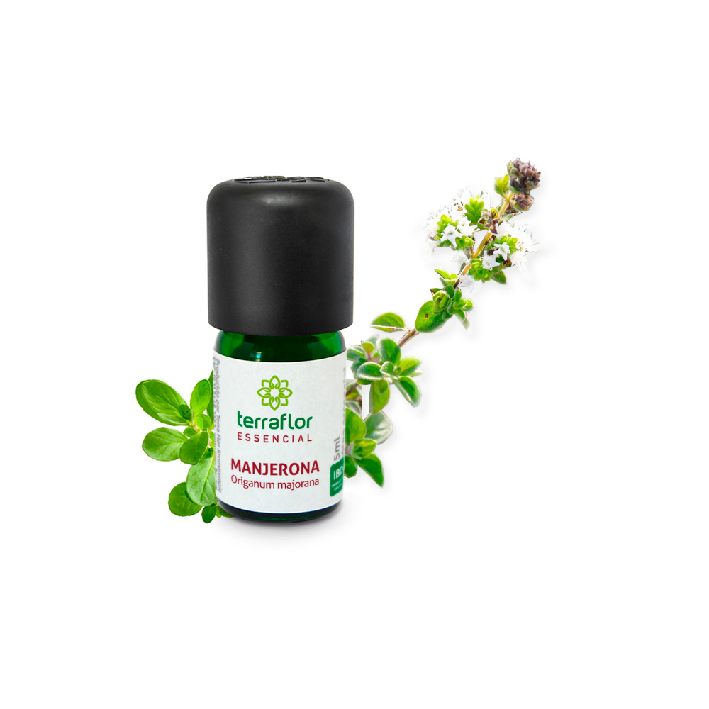 Óleo Essencial Natural de Manjerona Terra Flor 5ml