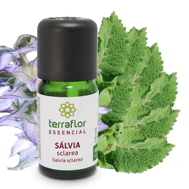 Óleo Essencial Natural de Sálvia Sclarea Terra Flor 10 ml