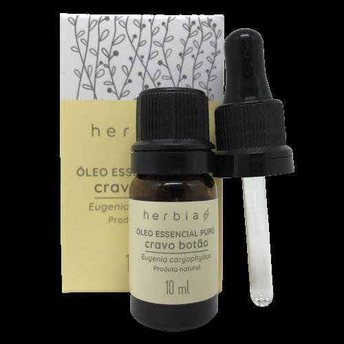 Óleo Essencial Natural e Vegano de Cravo Botão Herbia 10 ml