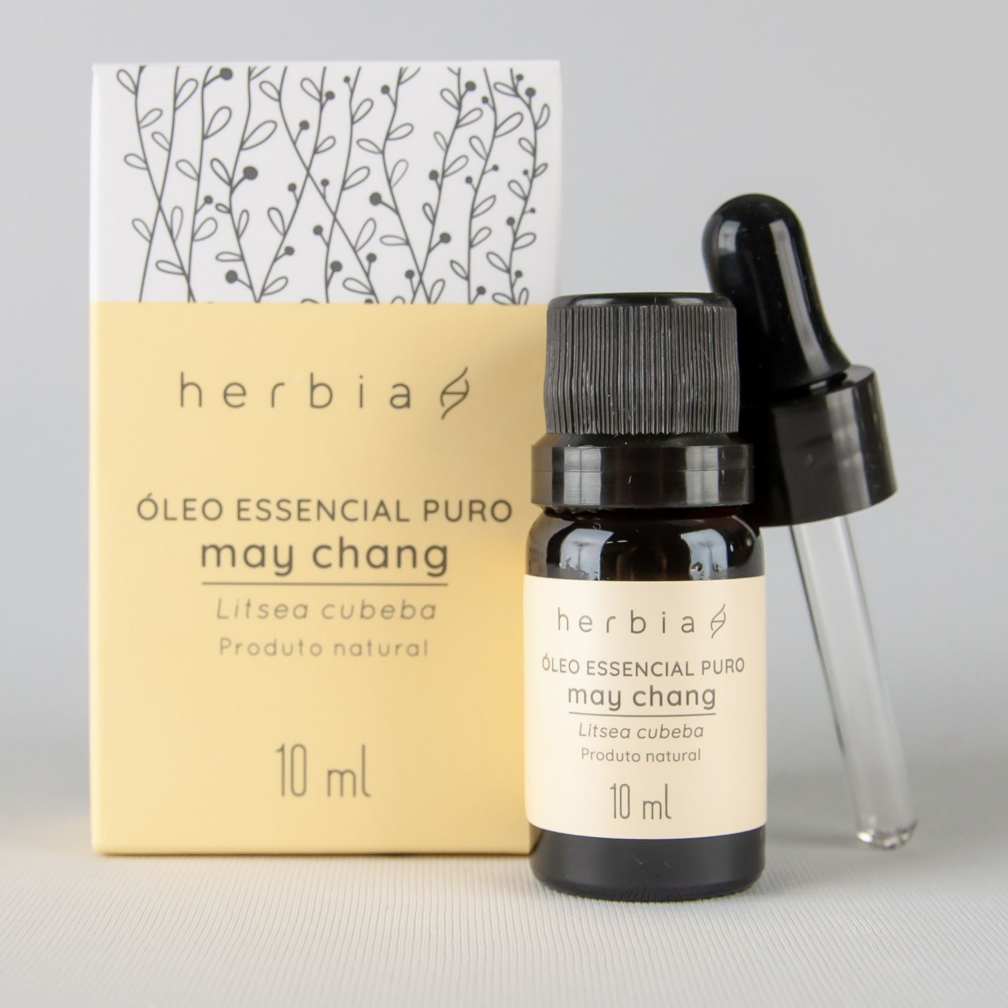 Óleo Essencial Natural e Vegano de May Chang Herbia 10 ml