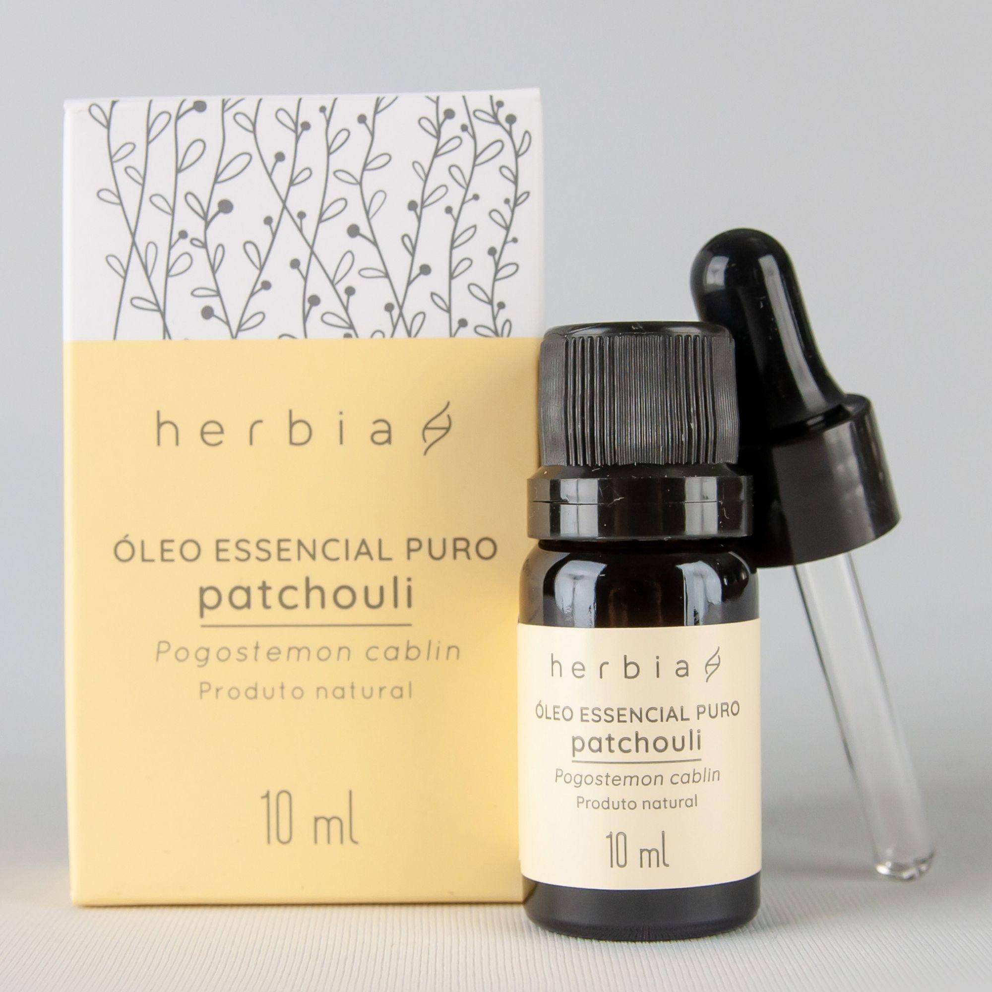 Óleo Essencial Natural e Vegano de Patchouli Herbia 10 ml