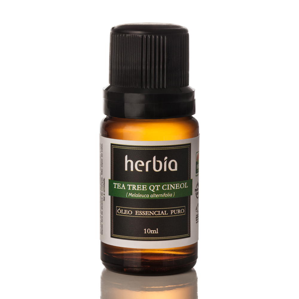 Óleo Essencial Orgânico Herbia de Tea Tree QT Cineol 10 ml