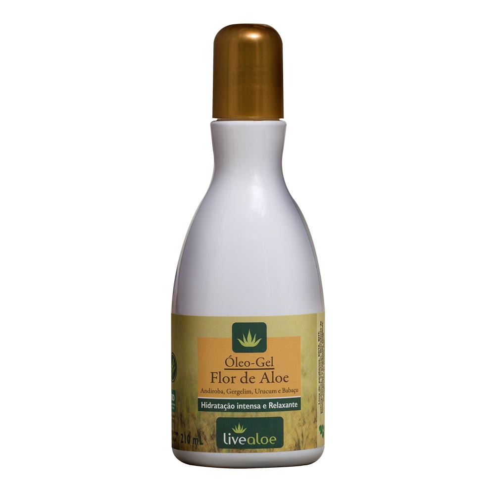 Óleo-Gel Corporal Bifásico Natural e Vegano Flor de Aloe Livealoe 210 ml