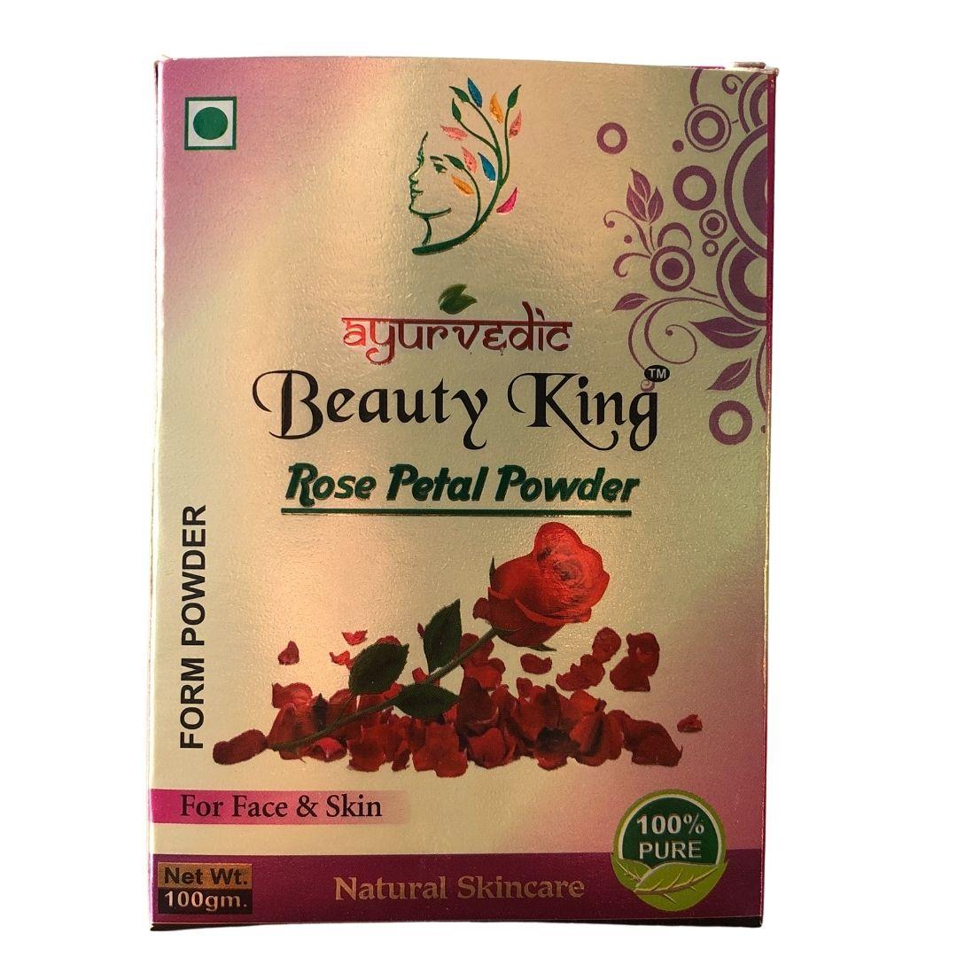 Pétalas de Rosas em pó Natural e Vegano Ayurvedic 100g