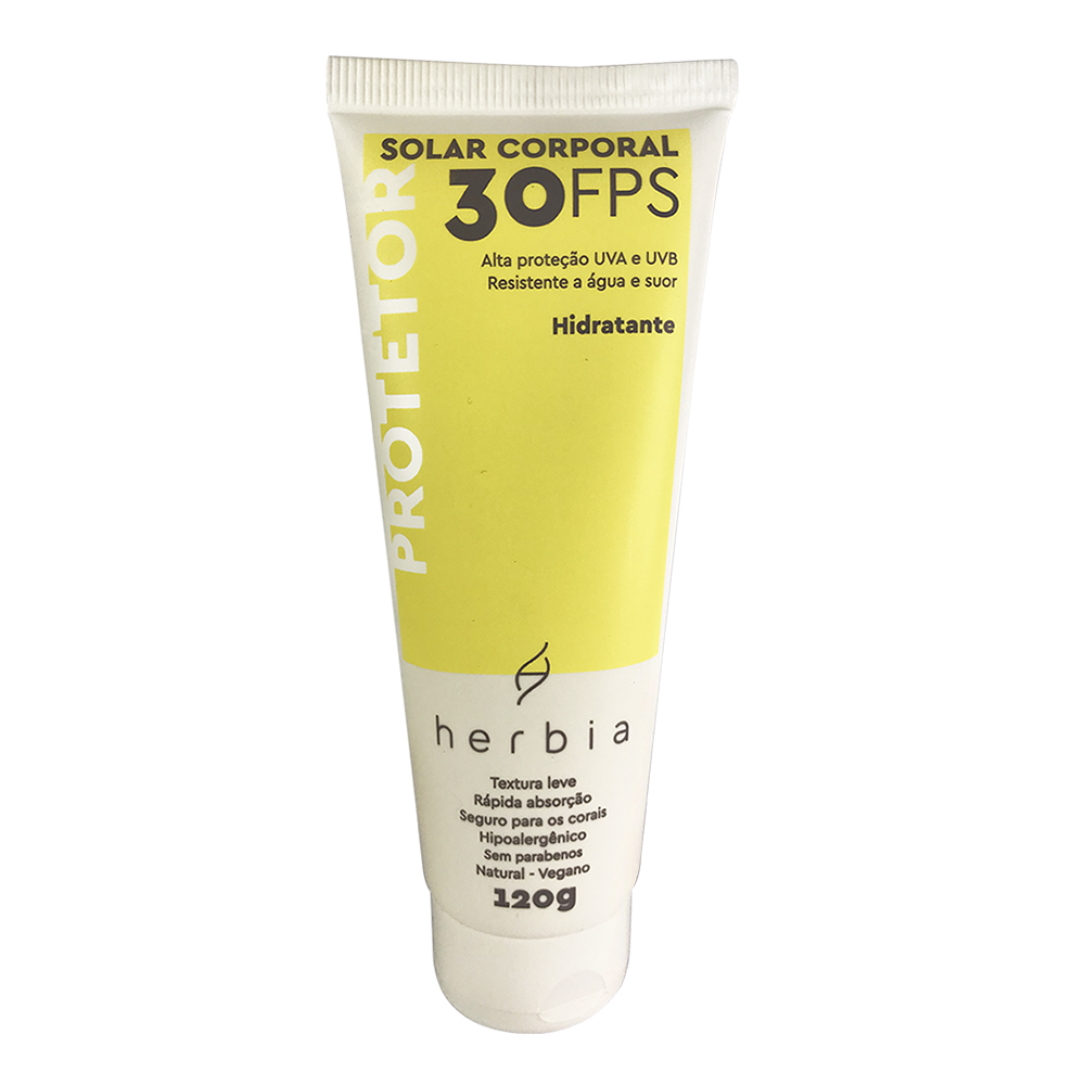 Protetor Solar Corporal Natural e Vegano Herbia FPS 30 120 g