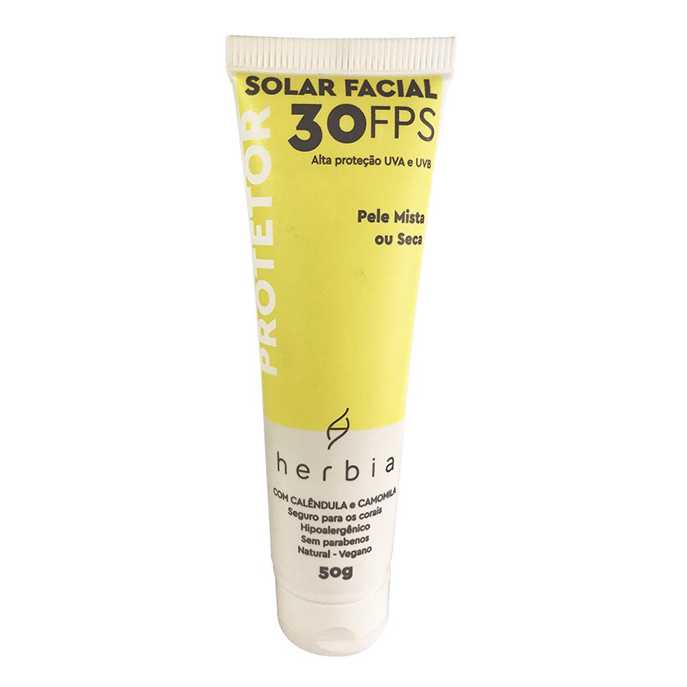 Protetor Solar Facial Natural e Vegano para Peles Mistas e Secas Herbia FPS 30 50 g
