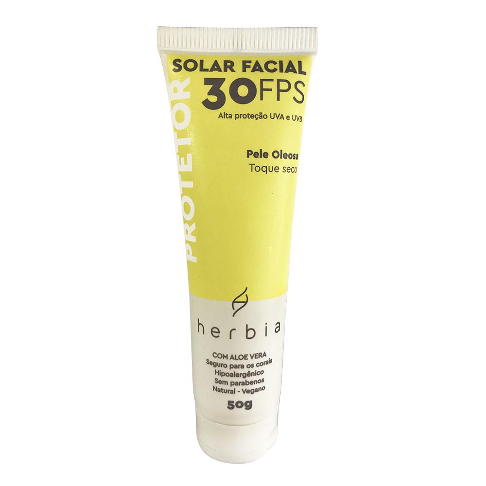 Protetor Solar Facial Natural e Vegano para Peles Oleosas Herbia FPS 30 50 g