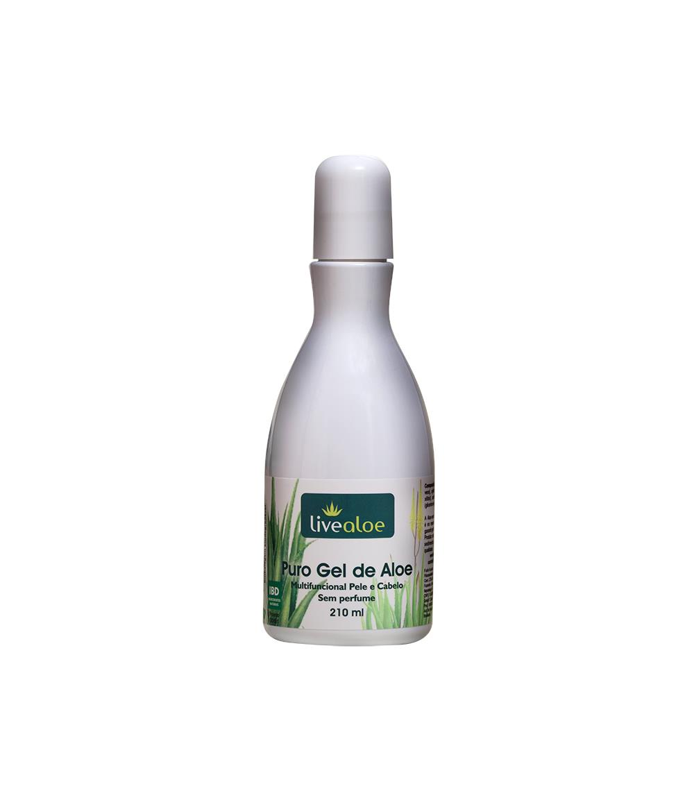 Puro Gel de Aloe Vera Natural e Vegano Livealoe 210 ml