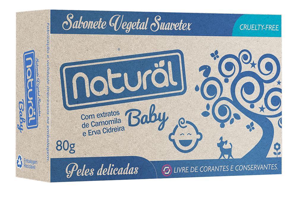 Sabonete Baby Natural e Vegano Camomila e Erva Cidreira 80 g