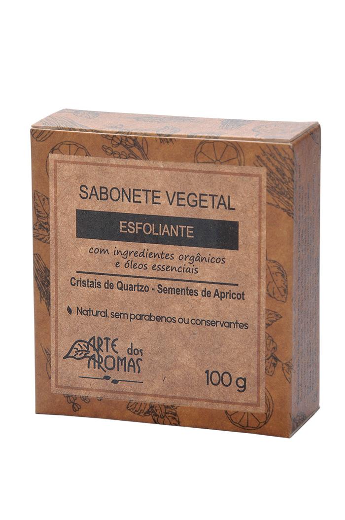 Sabonete Esfoliante Natural e Vegano Arte dos Aromas Cristais de Quartzo 100g