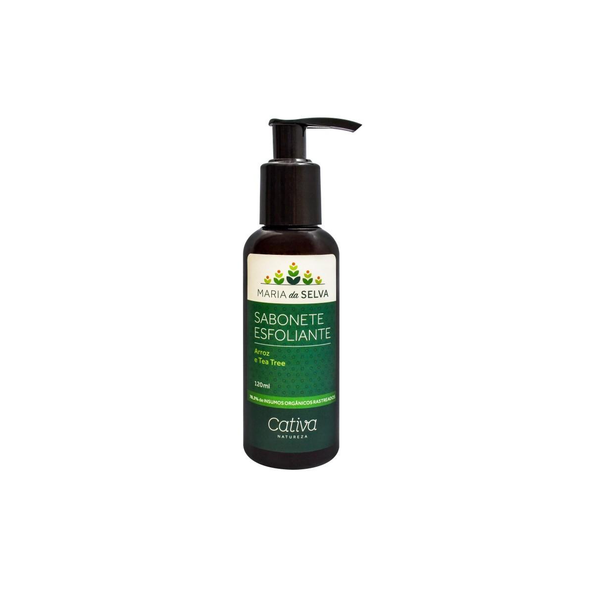 Sabonete Esfoliante Natural e Vegano Maria da Selva Cativa Natureza 110 ml