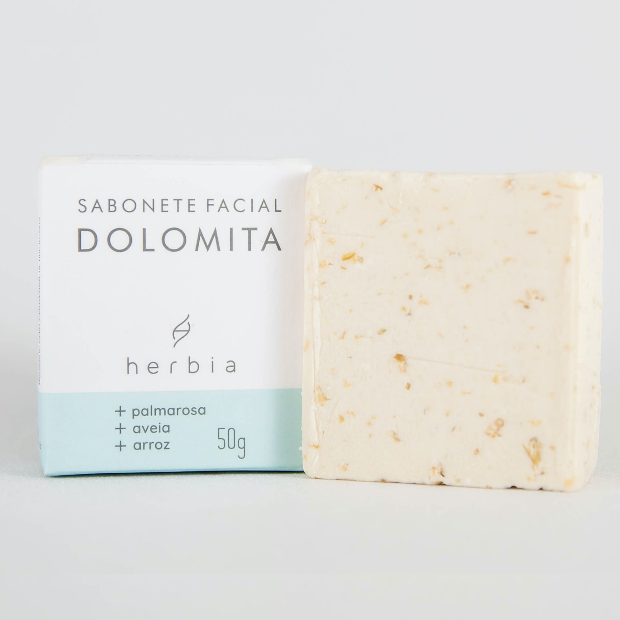 Sabonete Facial Natural e Vegano de Dolomita Herbia 50g
